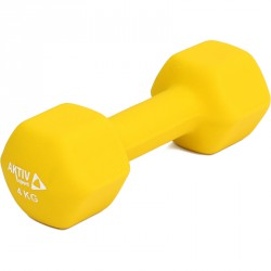 Aktivsport Súlyzó 4 kg neoprén citrom BLACK FRIDAY Aktivsport