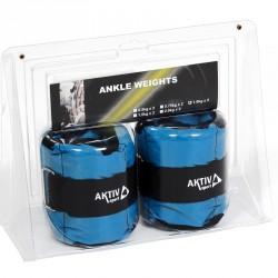 Aktivsport Csukló- és bokasúly 2x1 kg kék Csukló, bokasúlyok Aktivsport