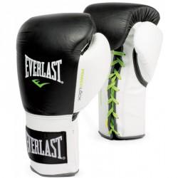 Bokszkesztyű Everlast Pro Fight fekete- fehér Kesztyűk Everlast