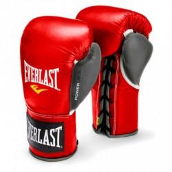Bokszkesztyű Everlast Pro Fight piros- szürke Kesztyűk Everlast
