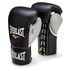 Bokszkesztyű Everlast Pro Fight fekete- szürke Kesztyűk Everlast