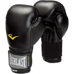 Muay Thai Style bőr edzőkesztyű Everlast fekete Kesztyűk Everlast