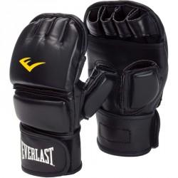 Grappling kesztyű Everlast fekete műbőr zárt hüvelykujjas Kesztyűk Everlast