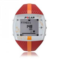 Polar FT7F női pulzusmérő óra piros narancssárga csíkkal Sportórák, lépésszámlálók Polar