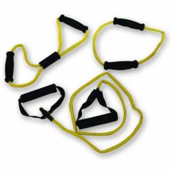 Bremshey Fitnesz Kötél Szett 3 db-os sárga, könnyű Gumikötelek Bremshey
