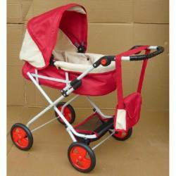 Babakocsi Bambi II - piros-bézs Játék babakocsik Bambi