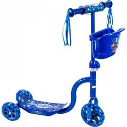 3 kerekű kosaras roller kék Roller