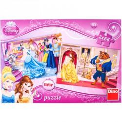 Puzzle 2x66 db - Hercegnők Puzzle Dino