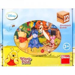 Fa mesekocka 12 db - Micimackó Készségfejlesztő játékok Dino