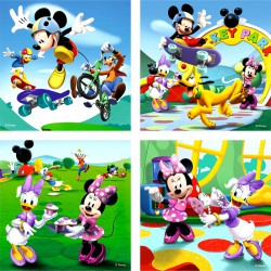 Puzzle 3IN1 memóriajáték - Mickey egér játszóház Ravensburger Puzzle Ravensburger