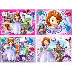 Puzzle 3IN1 memóriajáték - Hercegnők Ravensburger Puzzle Ravensburger