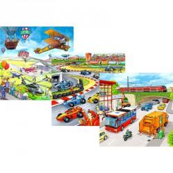 Puzzle 3x49 db - Járművek Ravensburger Puzzle Ravensburger