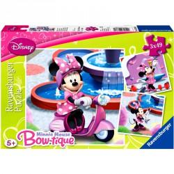 Puzzle 3x49 db - Minnie Ravensburger Puzzle Ravensburger