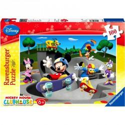 Puzzle 100XXL - Mickey gördeszkázik Ravensburger Puzzle Ravensburger