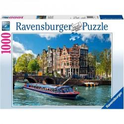 Puzzle 1000 db - Amszterdami túra Ravensburger Puzzle Ravensburger