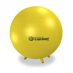Fit-Ball Ülőlabda lábakkal 45 cm - sárga Gimnasztika labdák Gymnic