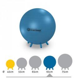 Fit-Ball Ülőlabda lábakkal 65 cm - kék Gimnasztika labdák Gymnic