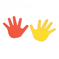 Kéz alakú padlójelölő szett Fejlesztő játékok Amaya