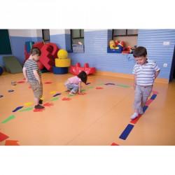Láb alakú padlójelölő szett Fejlesztő játékok Amaya
