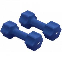 Neoprén súlyzók Gymstick 2x4 kg kék Súlyzók Gymstick