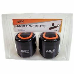 Aktivsport Neoprén csukló- és bokasúly 2x1 kg fekete/narancssárga Csukló, bokasúlyok Aktivsport