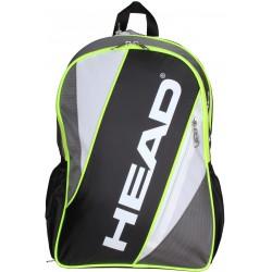Hátizsák Head Elite Backpack fekete-ezüst Tenisz squash táska Head