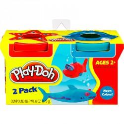 Gyurma szett Play-Doh két tégelyes többféle színben Gyurma Play-Doh