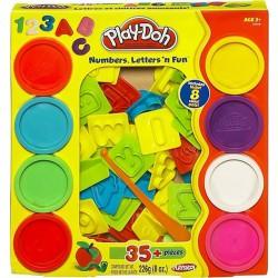 Gyurma szett Play-Doh betűk és számok Gyurma Play-Doh