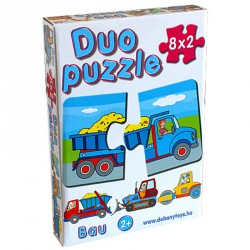 Duo puzzle építkezés Puzzle