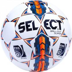 Futball labda Select Brillant Super 5-ös fehér-narancs Futball labda