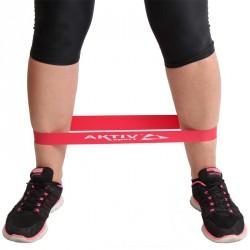Láberősítő gumihurok Aktivsport piros gyenge BLACK FRIDAY Aktivsport