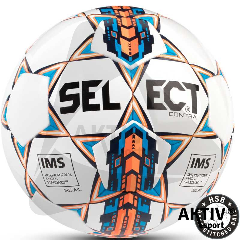 Focilabda Select Contra fehér-kék-narancs - Futball labda ... 53ed991480