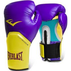 Edzőkesztyű Everlast Pro Style Elite lila-sárga Sportszer Everlast