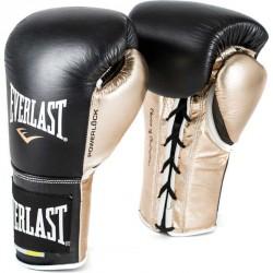 Bokszkesztyű Everlast Everstrike fekete-arany Sportszer Everlast