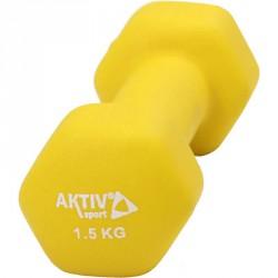 Aktivsport súlyzó neoprén 1,5 kg citrom