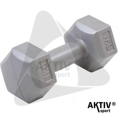 Aktivsport kézisúlyzó cementes 1 kg szürke