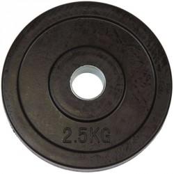 Gumírozott súlytárcsa Aktivsport 2,5 kg 31 mm markolat nélkül Sportszer Aktivsport