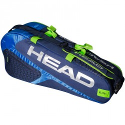 Tenisztáska Head Elite 6R Combi kék-zöld Sportszer Head