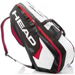 Tenisztáska Head Djokovic 9R Supercombi fekete-fehér-piros Sportszer Head