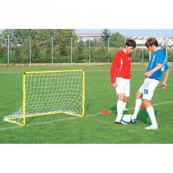 Mini focikapu hálóval 160x110 cm sárga Sportszer Liski