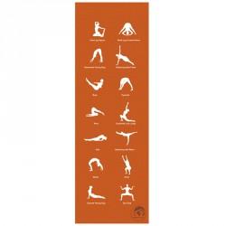 Jóga szőnyeg Trendy Home 180x60x0,45 cm narancssárga