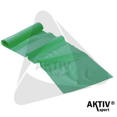 Fitnesz szalag Trendy Limite Band 2,5 m x 15 cm zöld közepes