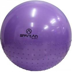 Gimnasztikai masszázs labda 75 cm lila Sportszer Spartan