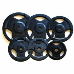 Aktivsport Gumírozott súlyzótárcsa 1,25 kg 51 mm BLACK FRIDAY Aktivsport