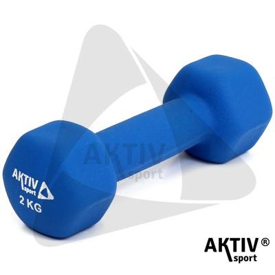 Aktivsport súlyzó 2 kg neoprén kék