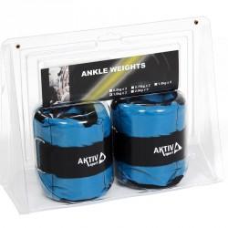 Aktivsport Csukló- és bokasúly 2x1,5 kg kék BLACK FRIDAY Aktivsport