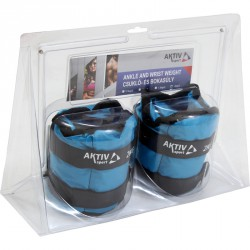 Aktivsport Csukló- és bokasúly 2x2 kg kék Sportszer Aktivsport