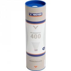 Tollaslabda Victor Nylon Shuttle 400 szintetikus fej, fehér Sportszer Victor