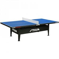 Pingpongasztal Stiga Super Outdoor hálóval és hálótartóval Kültéri ping-pong asztal Stiga