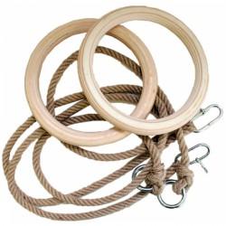 Kötélszáras gyűrűhinta, 1,7 m felnőtt 14 mm-es kötéllel Sportszer